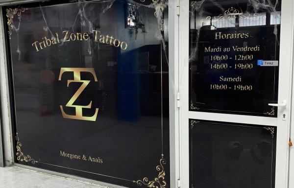 Tribal zone tattoo