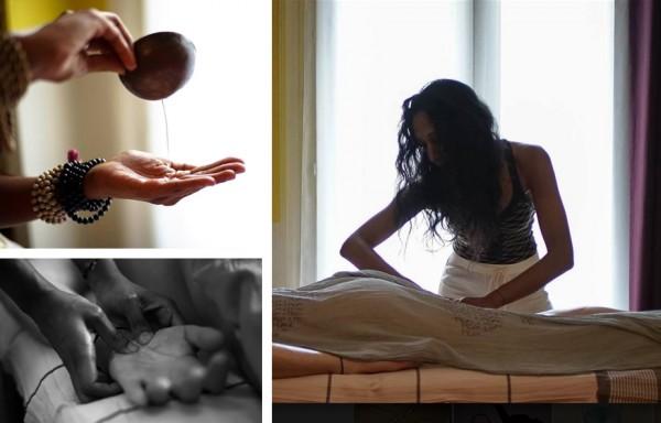 Rituel Ayurvédique : Soin du corps Vayu Snehana & massage des pieds - 2h