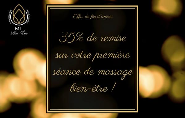 35% de remise sur une séance de massage bien-être