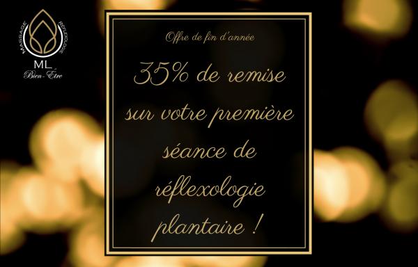 35% de remise sur une séance de réflexologie plantaire