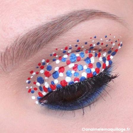 Maquillage femme, couleurs des Bleus