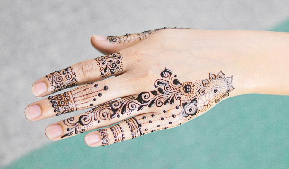 illustration tatouage henné
