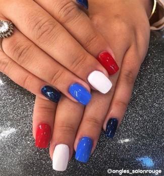 Vernis à ongles, couleurs équipe de France