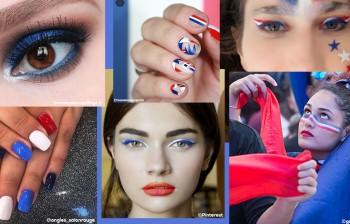 Un Maquillage au top pour soutenir l'équipe de France